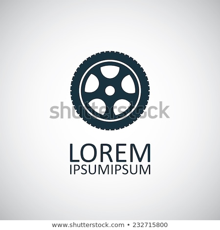 Rubber Car Wheel, Black tyre Vector Isolated Icon Stock photo © robuart