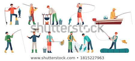 fisherman vector illustration stock photo © netkov1