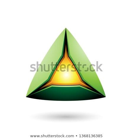 Verde pirámide núcleo vector ilustración Foto stock © cidepix