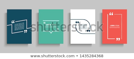 Foto stock: Mention Quotation Template In Frame Quotes Vector