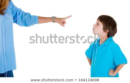 Madre culpable hijo blanco arte pop Foto stock © studiostoks