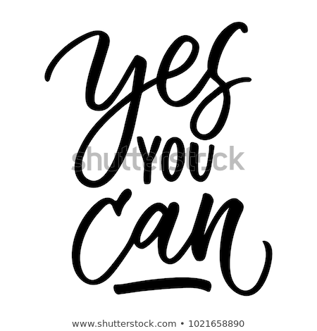 Sì può motivazione citare testo poster Foto d'archivio © cienpies