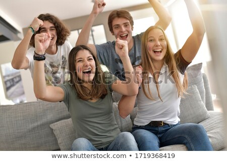 Group Of Friends Watching Sports Together Stock photo © AndreyPopov