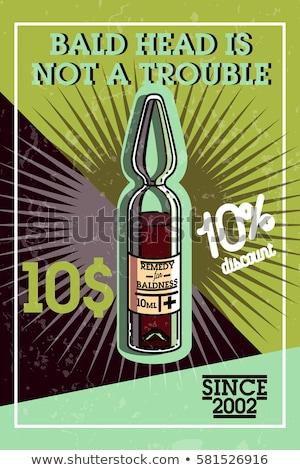 Color vintage remedy for baldness banner Stock photo © netkov1