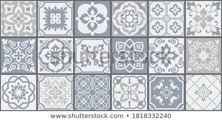 Raccolta bianco grigio piastrelle senza soluzione di continuità decorativo Foto d'archivio © ExpressVectors