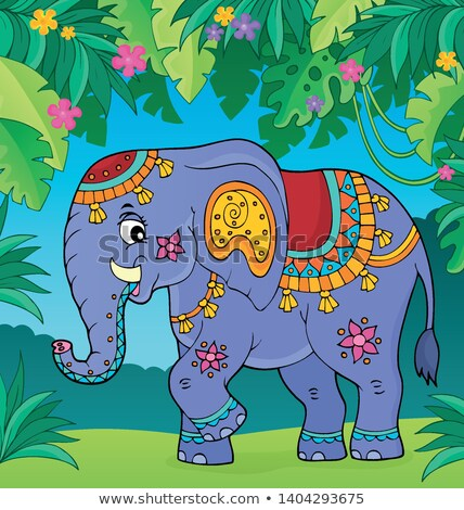 Indian elephant topic image 2 Stock photo © clairev