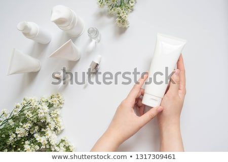 Woman Hands Care. Top View Of Beautiful Smooth Woman's Hands With Professional Nail Care Tools For M Stock photo © galitskaya