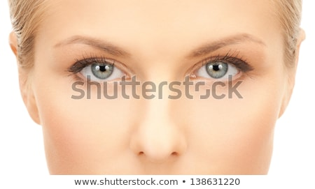 Close up portrait of pretty young blue eyed woman Stock photo © Giulio_Fornasar