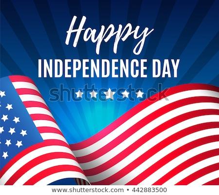 Feliz dia américa cartão Estados Unidos festa Foto stock © marish