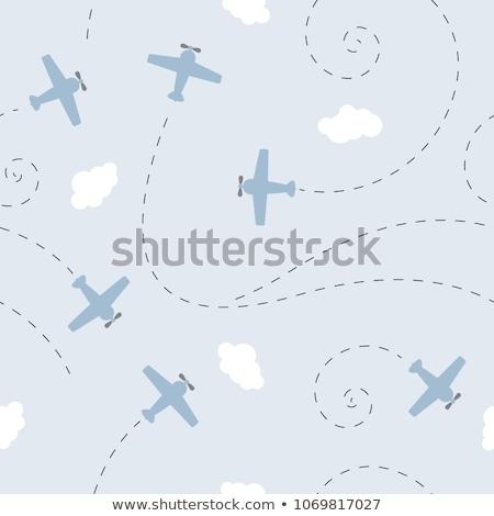 Luchtvaart eps 10 papier abstract Stockfoto © netkov1