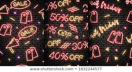 cyber monday neon seamless pattern stock photo © anna_leni
