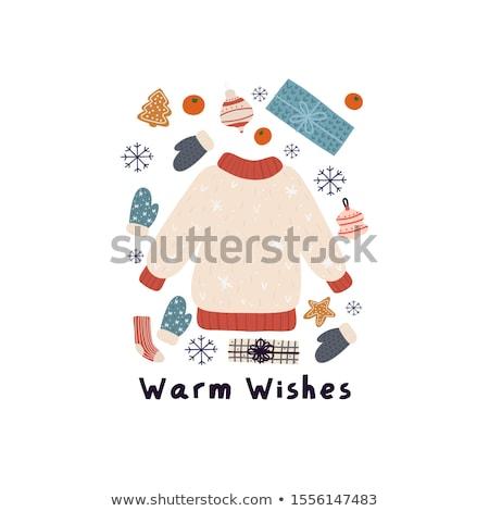 karikatür · sevimli · kış · sezonu · renkli - stok fotoğraf © balabolka