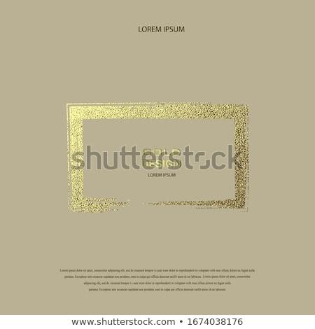 Prostokątny reklama granicy szablon wektora Zdjęcia stock © robuart