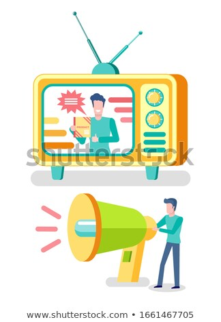 Media Advertising, Television and Radio Resources Stock photo © robuart
