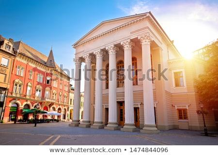 町 広場 表示 地域 セルビア ストックフォト © xbrchx