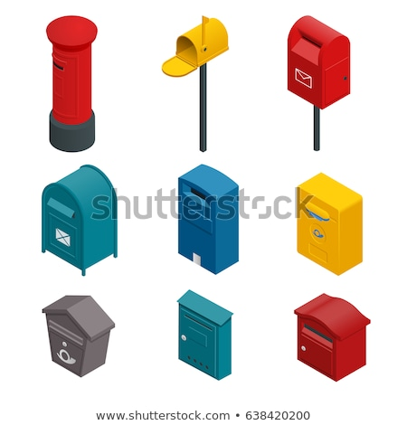 Post Mailbox Vector Colourful Collection on White Stock photo © robuart