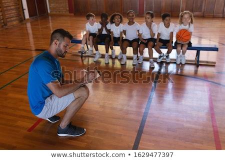 Jogar basquetebol quadra de basquete escolas menina Foto stock © wavebreak_media