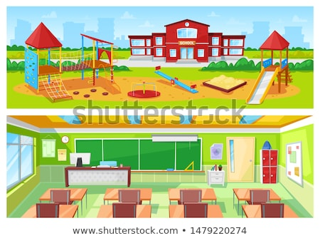 School Building Exterior Yard, Classroom Interior Stock photo © robuart