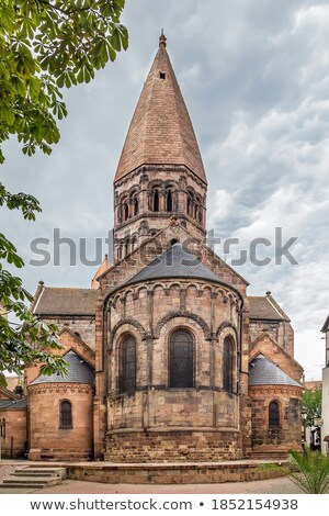 église saint foi architecture repère route Photo stock © borisb17