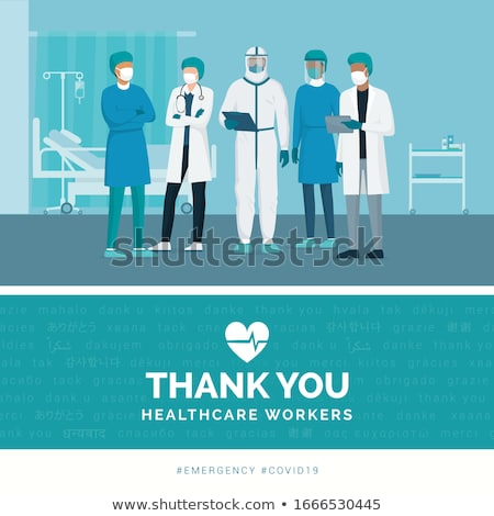 Team of Medical Workers, Hospital Staff Vector Stock photo © robuart