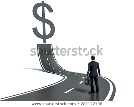 Stock photo: Businessman in the business concept with dollar car