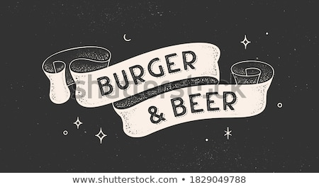 Flag Burger. Old school flag banner with text Stock photo © FoxysGraphic