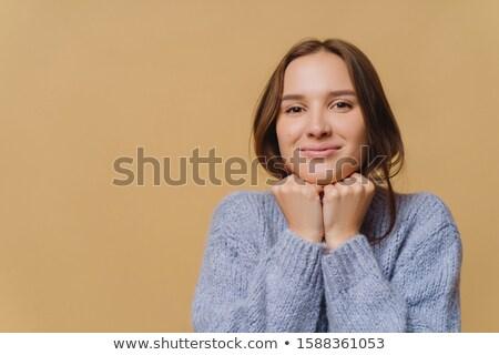 Escuro mulher saudável pele tanto mãos Foto stock © vkstudio