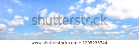 Big fluffy clouds on a blue sky background. Stock photo © artjazz