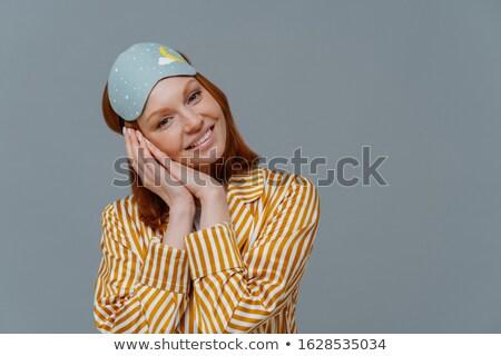 Horizontal erschossen anziehend Ingwer Frau froh Stock foto © vkstudio