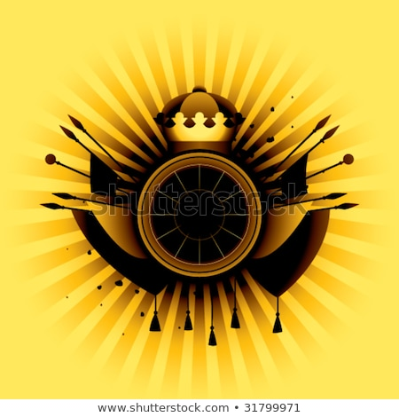 Vector amarillo banner caballero armadura aislado Foto stock © dashadima