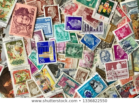 Stock photo: Stamp collection