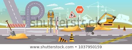 Edifício equipamento vetor construção listrado Foto stock © robuart