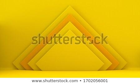Citromsárga felfelé nyertes pódium formák 3D Stock fotó © djmilic