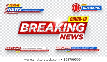 latest news alert banner of coronavirus covid-19 Stock photo © SArts