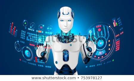 Cyborg with Hands and Face, Robot or Humanoid Stock photo © robuart