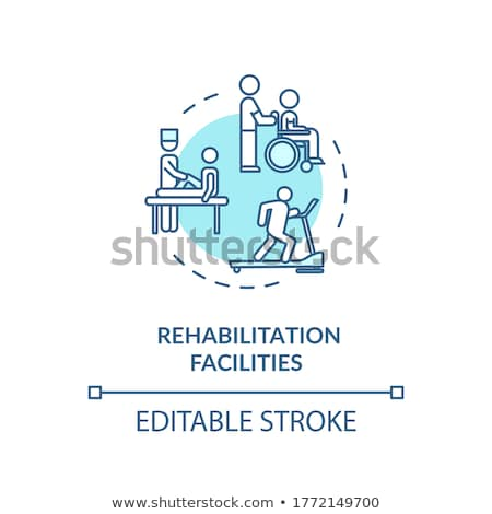 Rehabilitation service and support vector concept metaphors. Stock photo © RAStudio