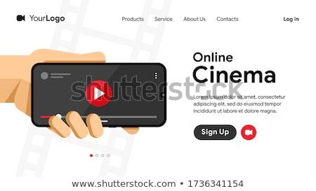 Online mozi videó gemkapocs film néz Stock fotó © karetniy