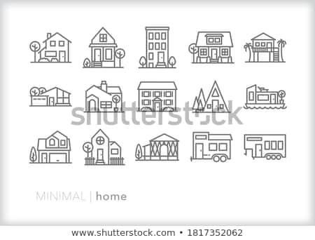 Casa tipo vetor ícones usuário Foto stock © ayaxmr