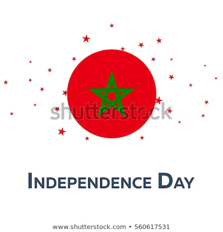 National flag of the Morocco in the shape of a heart and the inscription I love Morocco. Vector illu Stock photo © butenkow