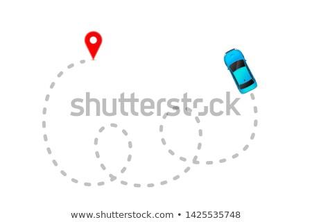 Blau Auto grau Länge verfolgen rot Stock foto © evgeny89
