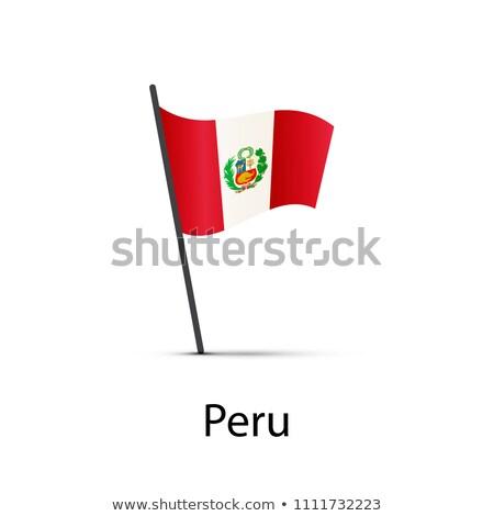 ペルー フラグ ポール インフォグラフィック 白 ストックフォト © evgeny89