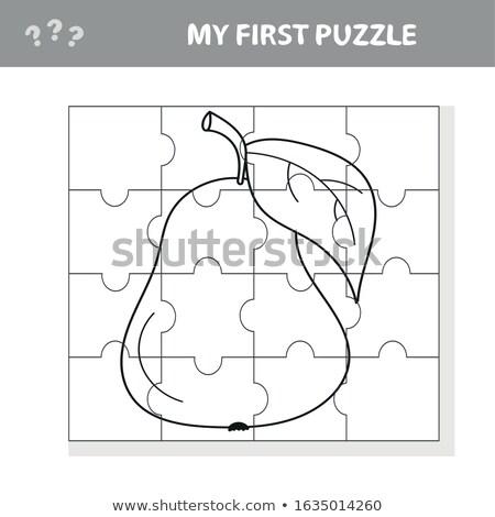 Mijn eerste puzzel taak spel Stockfoto © natali_brill