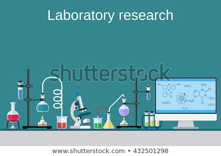 Computer atoom laboratorium wetenschap school medische Stockfoto © yupiramos