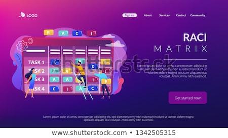 Matrix landing pagina zakenlieden verantwoordelijkheid Stockfoto © RAStudio