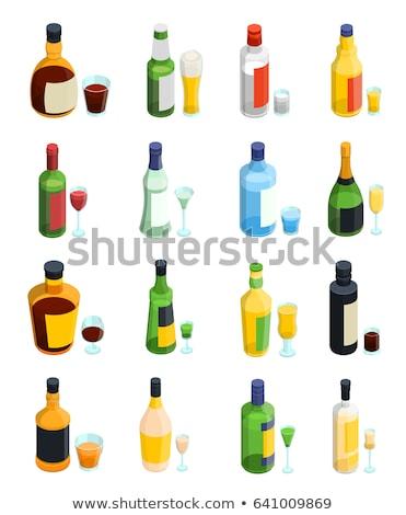 アルコール ボトル アイソメトリック アイコン ベクトル にログイン ストックフォト © pikepicture