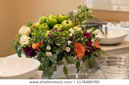 citromsárga · piros · almák · ág · gyümölcsös · fa - stock fotó © backyardproductions