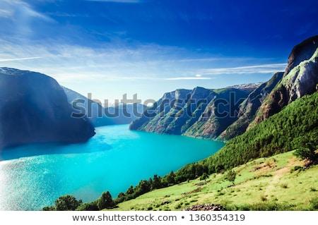 пейзаж западной Норвегия природы дождь океана Сток-фото © SimpleFoto