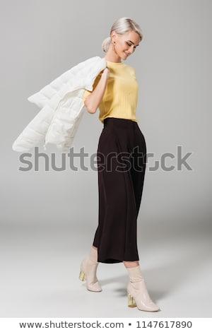 elegante · najaar · meisje · geïsoleerd · illustratie · gelukkig - stockfoto © smeagorl