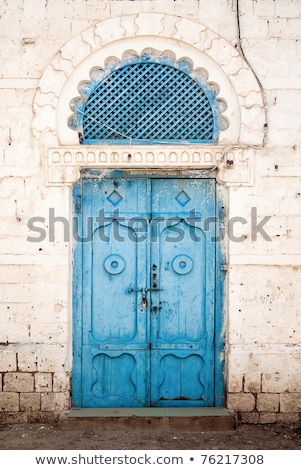 Windows Erytrea wpływ drewna budynków domów Zdjęcia stock © travelphotography