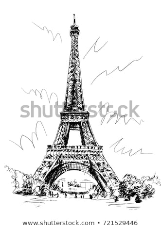 Sign Building Towers on a white background Stock photo © Ecelop